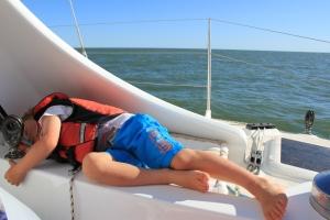 Reuben's siesta spot for cruisy sails